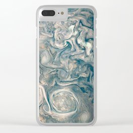 Jupiter Stormy Weather Watercolor Texture Clear iPhone Case