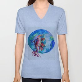 ET under water moment Unisex V-Neck
