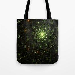 Kaos Entwined Flame Fractal Tote Bag