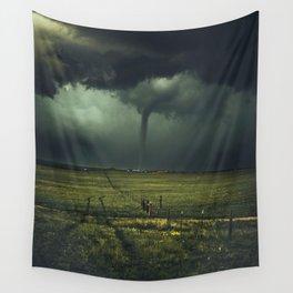 Tornado Coming (Color) Wall Tapestry