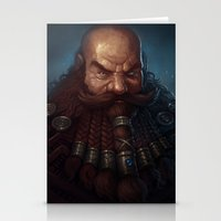 warhammer Stationery Cards featuring Angry Dwarf by Bobkehl