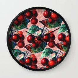 Vintage Cherries Wall Clock