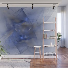 Folds in Blue N Gold Wall Mural