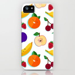 happy fruits and berries iPhone Case