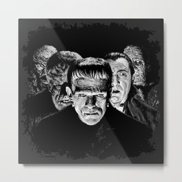 Famous Monsters Silver Screen Edition Metal Print