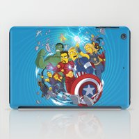 superheroes iPad Cases featuring Superheroes by Adrien ADN Noterdaem