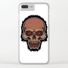 Skull cartoon Clear iPhone Case