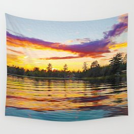Up North Sunset Wall Tapestry