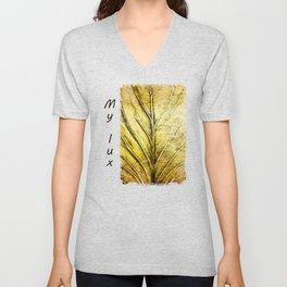 Golden Leaf #gold #golden #leaf Unisex V-Neck