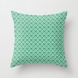 Green Brassicas Throw Pillow
