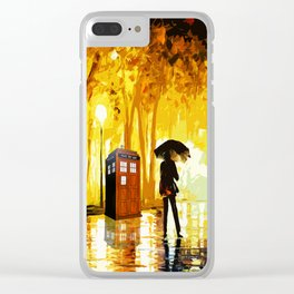 Tardis Phone Both With People Stay Alone Clear iPhone Case