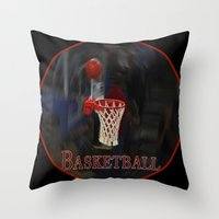 basketball Throw Pillows featuring Basketball by LoRo  Art & Pictures