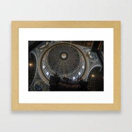 St. Peter's Basilica Dome Framed Art Print
