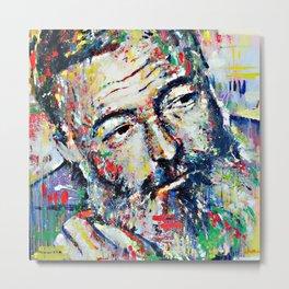 Ernest Hemingway Metal Print