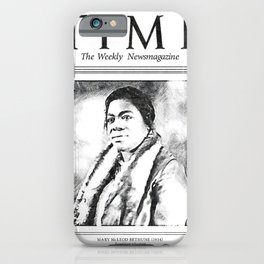 Mary Jane McLeod Bethune - SketchArt - American Educator Society6 Online Artworks 2 iPhone Case