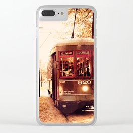 St Charles Street Car - New Orleans Clear iPhone Case