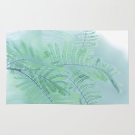 Tree branch with green leaves Rug