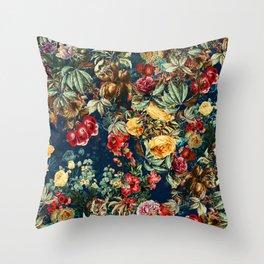Pomegranate Garden Throw Pillow