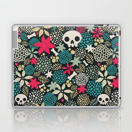 Skulls and flowers. Laptop & iPad Skin