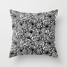 Phidias Gold Sticker Pattern Throw Pillow