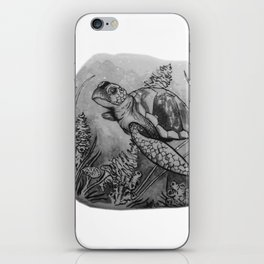 Sea Turtle Swimming with coral by annmariescreations iPhone Skin
