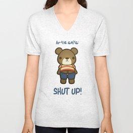 Artie the Grumpy Bear Unisex V-Neck