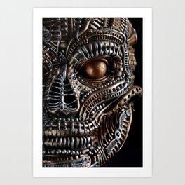 Biomechanical monster Art Print