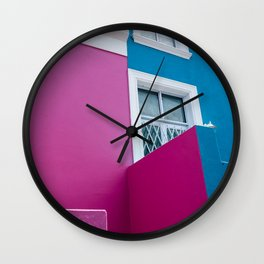 BO KAAP COLOFUL HOUSE Wall Clock