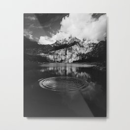 Ripple (Black and White) Metal Print