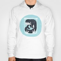 the whale Hoodies featuring Whale by Rodrigo Fortes