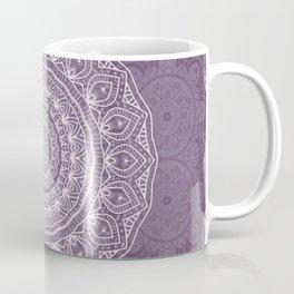 White Lace on Lavender Coffee Mug