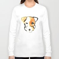 jack russell Long Sleeve T-shirts featuring Jack Russell by Jen Moules