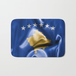 Kosovo Flag Bath Mat