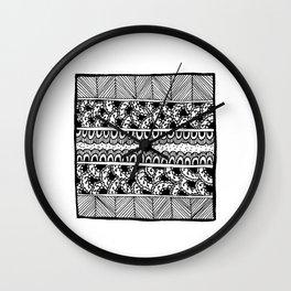 Graceland Black & White Wall Clock