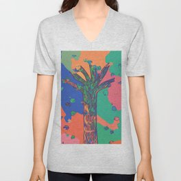 Colorful First Sprint Blossoms Unisex V-Neck