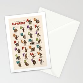 Animals & Instruments Alphabet Stationery Cards