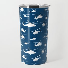 Helicopters on Sapphire Blue Travel Mug