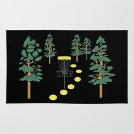 Disc Golf Stupid Trees Woods Men Women Court Gift Rug