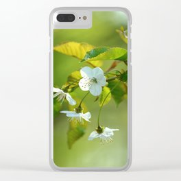 Delicate Spring Blossoms Clear iPhone Case
