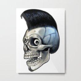 Psychobilly Skull Metal Print
