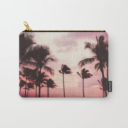 Tropical Palm Tree Pink Sunset Carry-All Pouch