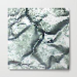 Pixel SILVER Metal Print