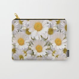 WHITE SHASTA DAISES GARDEN Carry-All Pouch