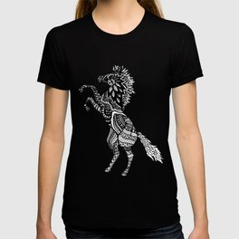 Rearing Horse Zentangle (abstract doodle) T-shirt