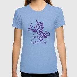 Seahorse Sea Unicorn Cute Sea Creature T-shirt
