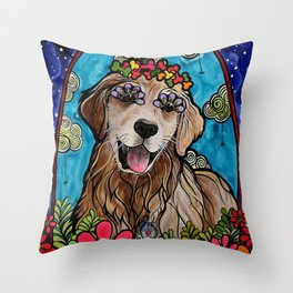 Golden Retriever Service Dog (Ryver) Throw Pillow