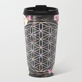Flower of Life Rose Garden Metal Travel Mug