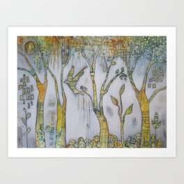 Be Still and All Will Rise Art Print