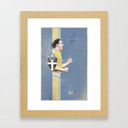 Poster euro football player IBRA Framed Art Print