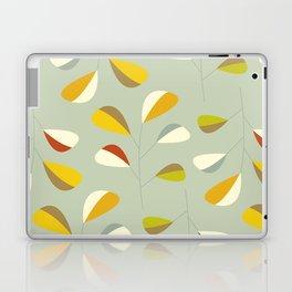 Mid Century Modern Graphic Leaves Pattern 1. Vintage green Laptop & iPad Skin